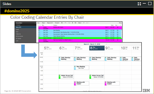 olor Coding Calendar by Chair Notes 10