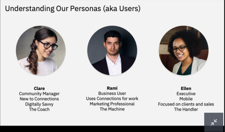 COnnections user personas