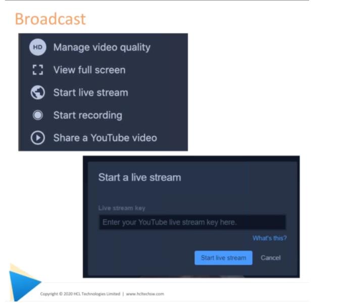 Sametime-Broadcast