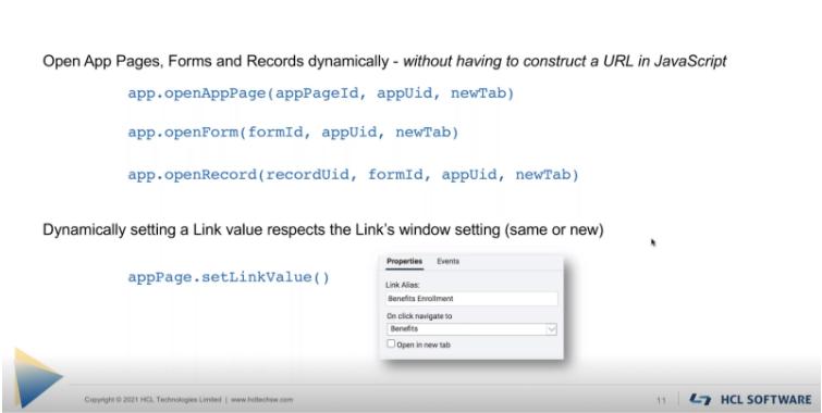 HCL-Domino-Volt 1.0.3-Navigation-JavaScript-functions