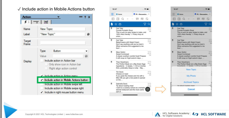 HCL-Nomad-Mobile-Actions